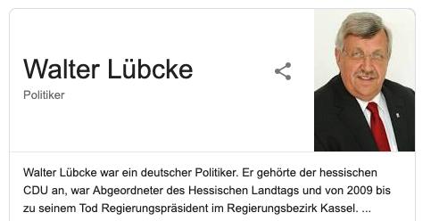 in Gedenken an Walter Lübcke
