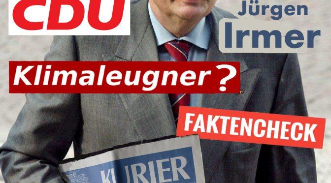 Hans-Jürgen Irmer (CDU) verbreitet klimapolitischen Unsinn – Ein Faktencheck