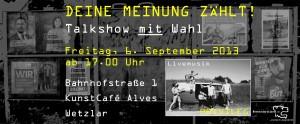 Bahnhofstraße 1: Deine Meinung zählt - Talkshow mit Wahl