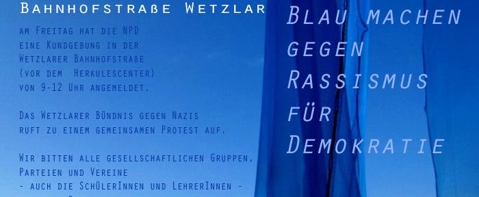 Gemeinsam gegen Rassismus und für Demokratie